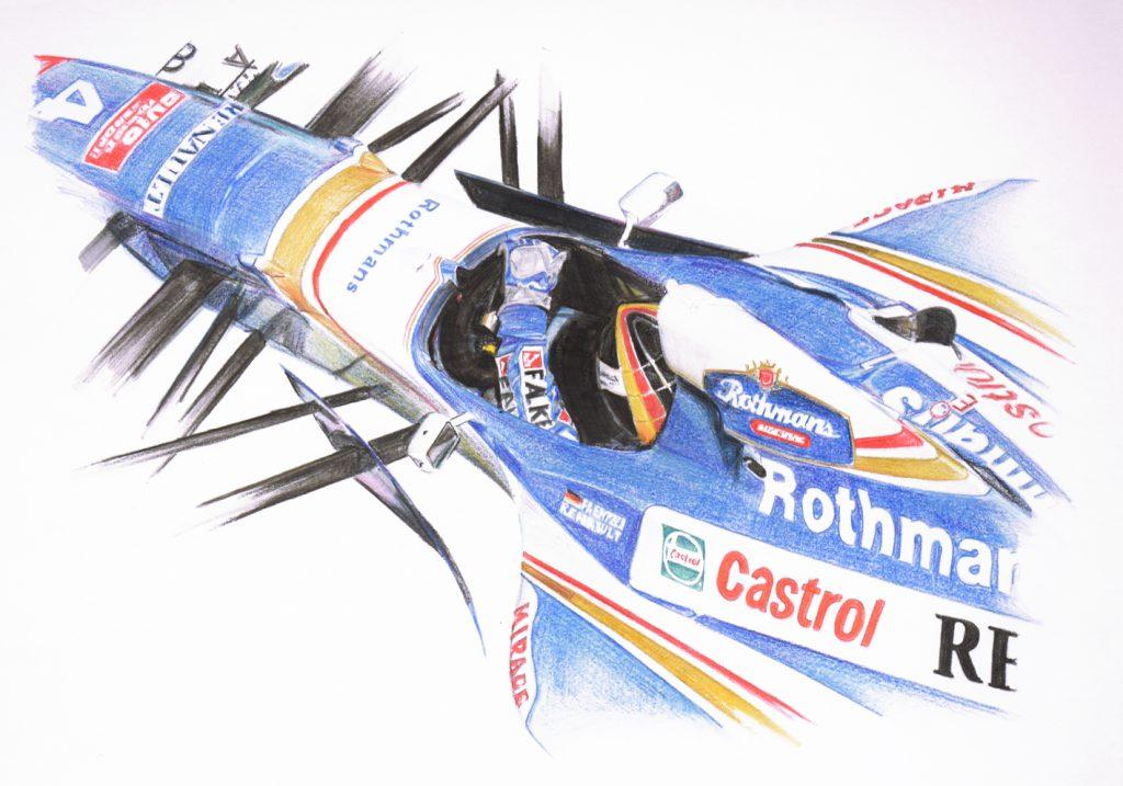 Tekening Frentzen Formule1