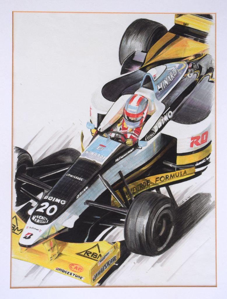 Tekening Katayama Formule1