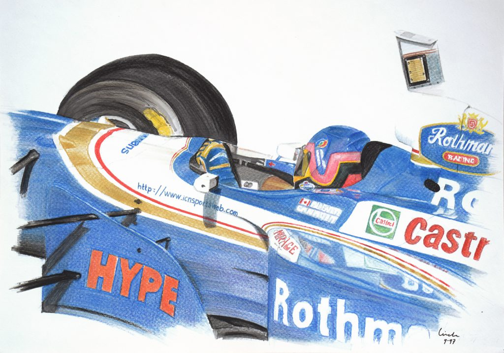 Tekening Villeneuve Formule1
