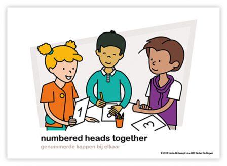 Dagritmekaart bovenbouw numbered heads together