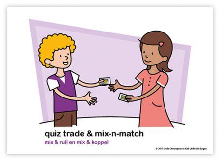 Dagritmekaart bovenbouw Quiz trade mix and match