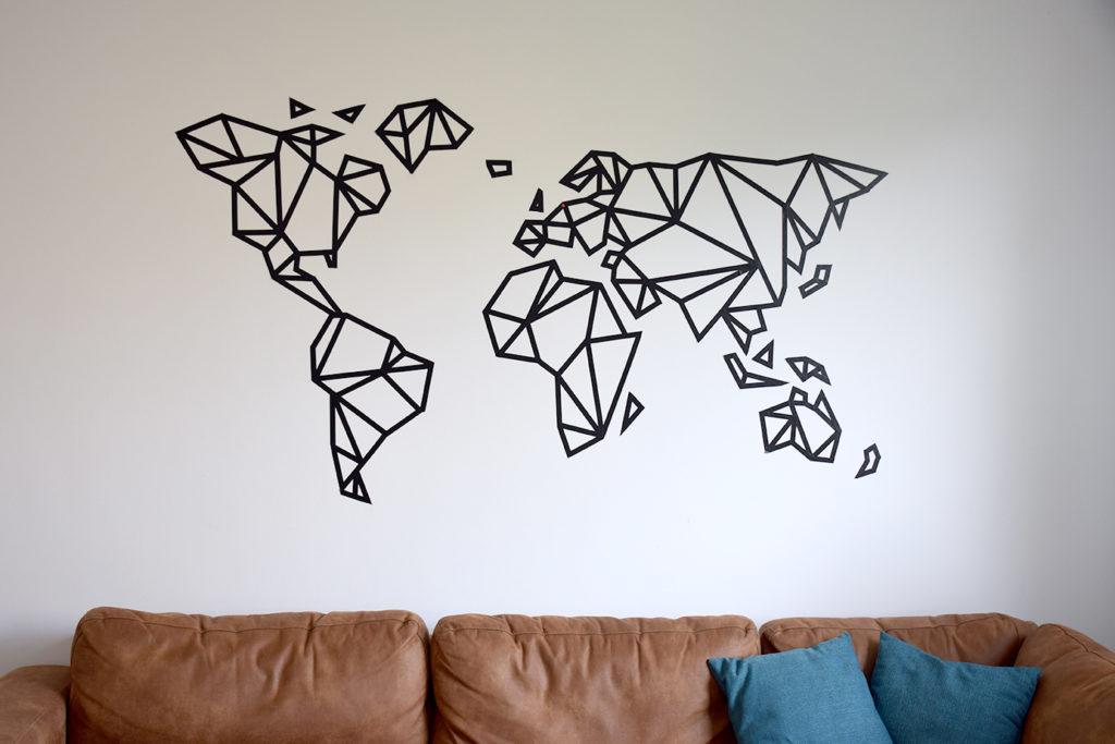 ontwerp wereldkaart washitape