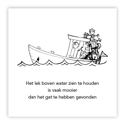 illustratie zinkende boot