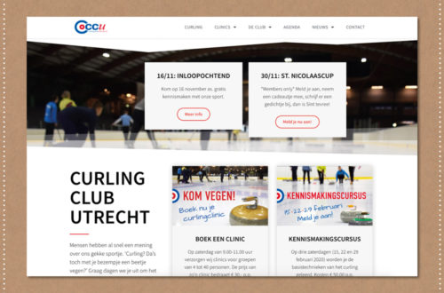 Webdesign Curling Club Utrecht