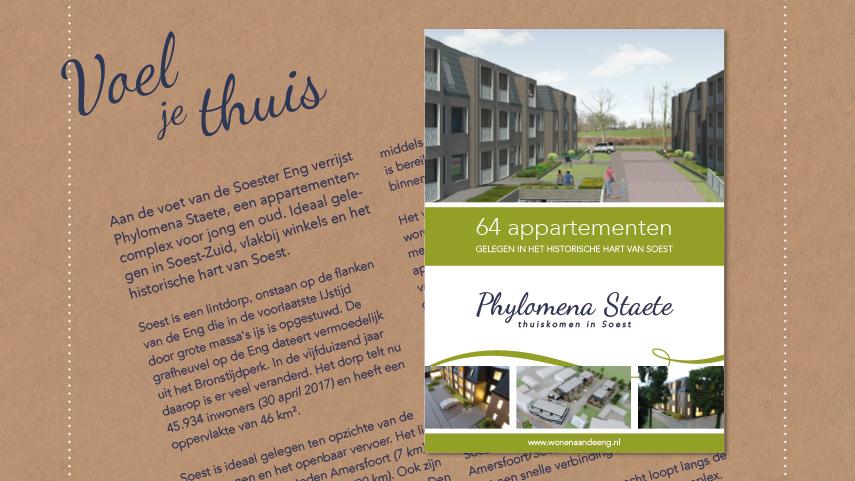 Ontwerp brochure Phylomena Staete