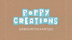 ontwerp Poppy Creations geboortekaartjes