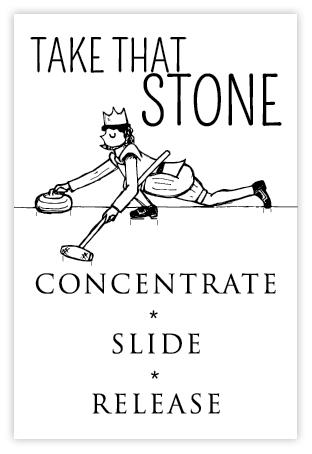 Curling ansichtkaart postcard