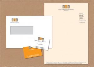ontwerp huisstijl logo visitekaartje briefpapier envelopBVG Advocaten