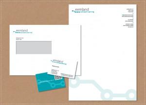 ontwerp huisstijl logo visitekaartje briefpapier envelop Eemland Automatisering