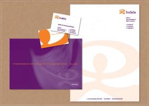 ontwerp huisstijl logo visitekaartje briefpapier envelop Indala