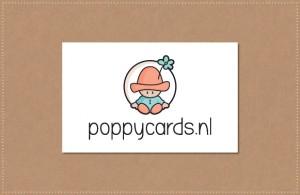 ontwerp Logo Poppycards geboortekaartjes