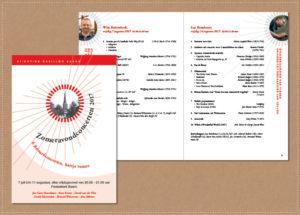 grafisch ontwerp vormgeving programmaboekjes