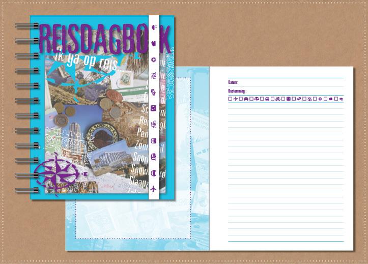 grafisch ontwerp vormgeving reisdagboek