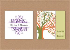 grafisch ontwerp vormgeving trouwkaartjes